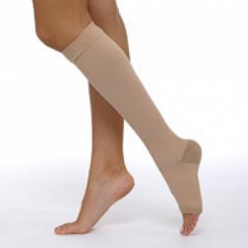 Гольфы 2 компрессии с открытым носком, женские или мужские.  Цвета: крем, черный