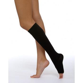 Гольфы 3 компрессии с открытым носком мужские.  Цвета: крем, черный