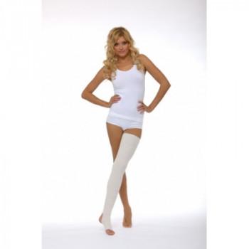 Компрессионные чулки 1 степени до бедра с открытым носком и пяткой (унисекс).