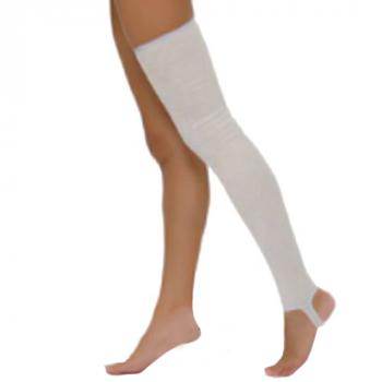 Чулки 2 класса компрессии до бедра с открытым носком и пяткой (унисекс).