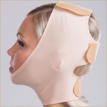 Маска компрессионная для лица с тремя липучками FMS