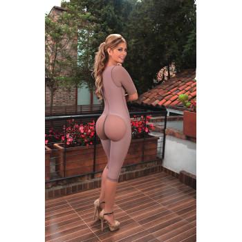 Комбинезон до колен с рукавами для сильной коррекции и подтяжки всех зон. Колумбия