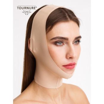 Послеоперационная открытая маска для фитнеса лица с легкой компрессией и бесшовным краем Tournure