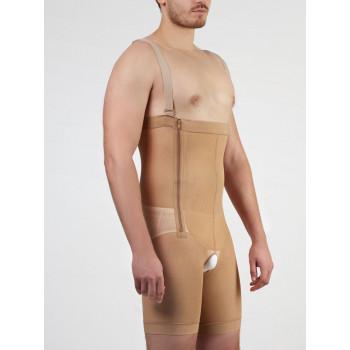 Высокие компрессионные штаны до середины бедра мужские