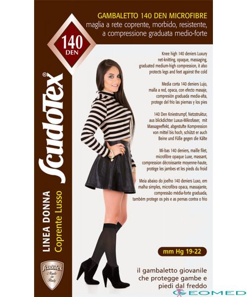 599 Гольфы компрессионные 1 класса Scudotex (19-22 mmHg) 140 den микрофибра полотные